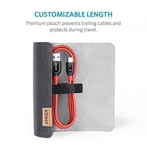 Anker Powerline+ USB-C to USB 3.0 cable (3ft), High Durability, for USB Type-C Devices Including the new MacBook, ChromeBook Pixel, Nexus 5X, Nexus 6P, Nokia N1 Tablet, OnePlus 2 and More