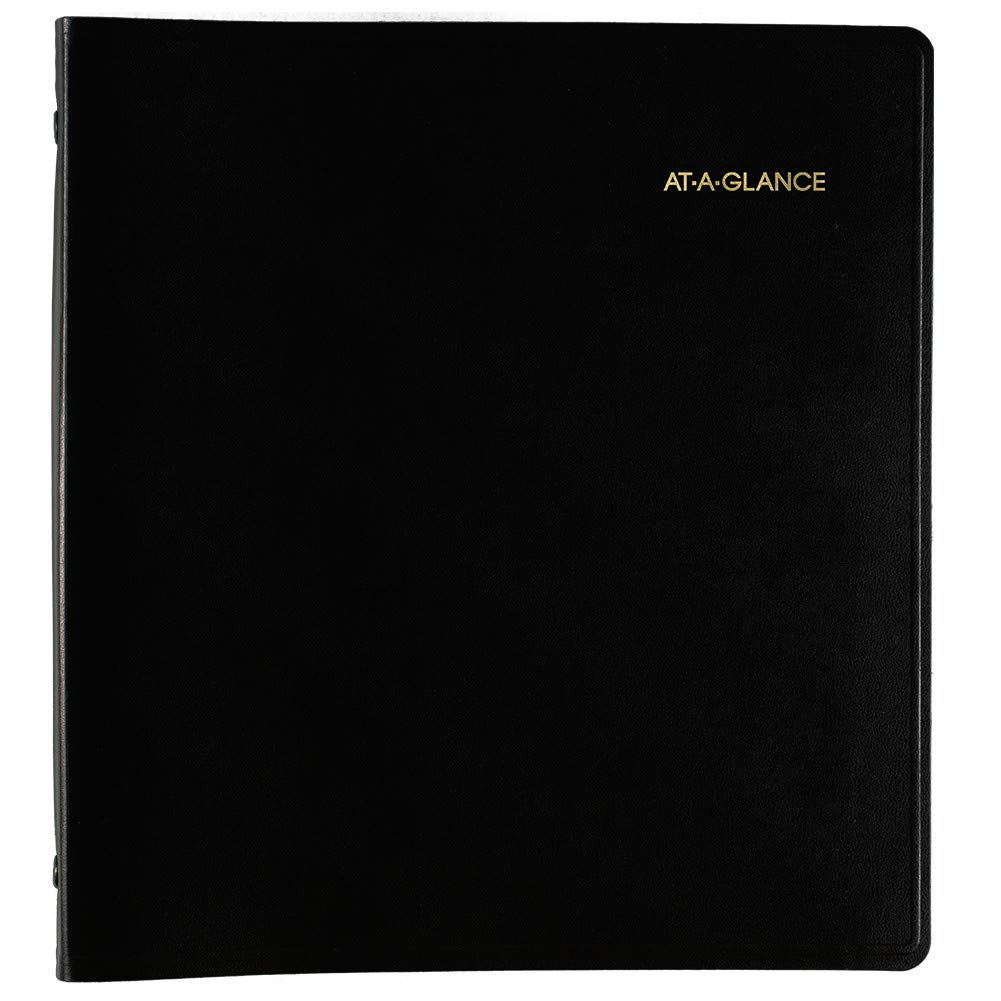 at a glance 2019 2023 monthly planner 5 year 9 x 11 large black