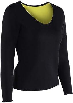 VGEBY1 Body Sweat Sauna Shirt, Camisa de Manga Larga para Adelgazar Mujer Body Sweat Shirt Pérdida de Peso Fat Burner para Mujeres: Amazon.es: Deportes y aire libre