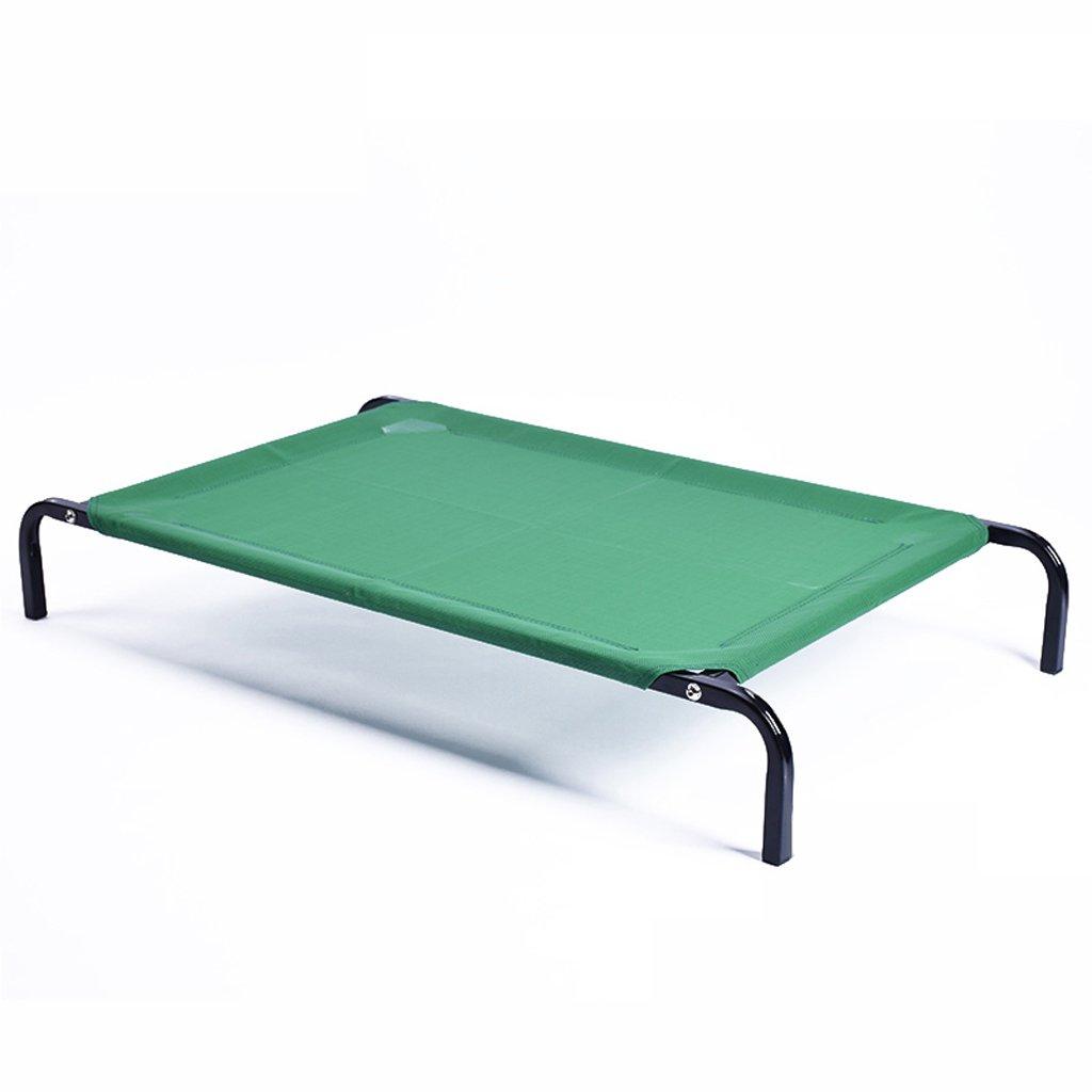 Green L Green L GWM Kennels Pet Bed, Medium, Large Dog, Dog Bed, Summer, Summer, Washable Kennel, Teddy, golden Retriever, Pet Nest (color   Green, Size   L)