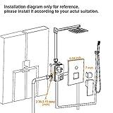 SR SUN RISE Square Manual Bathroom Shower Mixer Valve Control SRSH-5043-K