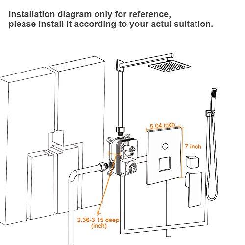 SR SUN RISE Square Manual Bathroom Shower Mixer Valve