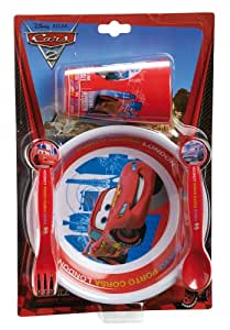 Spel 004156 Disney Cars 2 - Set de vajilla y cubiertos infantiles (4 piezas)