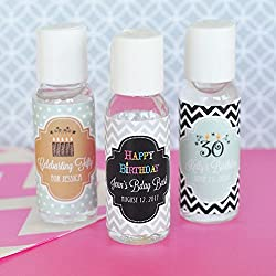 Set of 24 Personalized Birthday Hand Sanitizer Party Favors