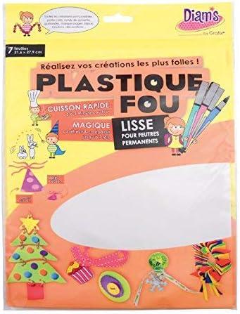 De Diam Blanco DI 42263 Hojas de Plástico Obispo 27,9 x 21,6 x 0,1 cm Conjunto de 7