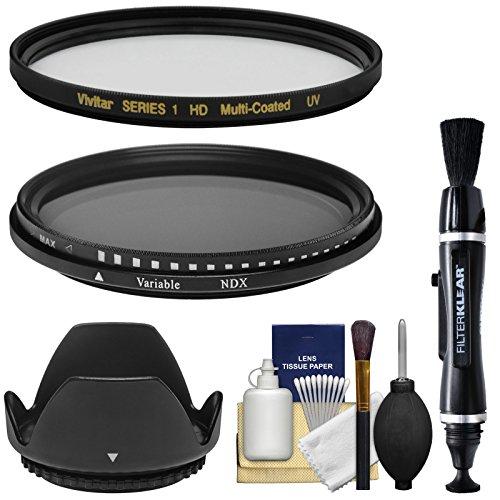 m (MC UV + Variable Neutral Density) Glass Filters with Lens Hood + Lens Brush Pen + Kit ()