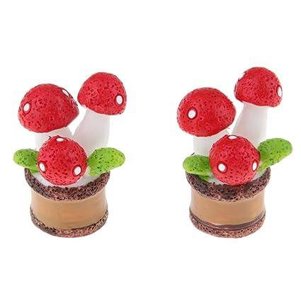 Amazon.es: 2X Mini Plantas Miniatura de Cactus de Resina ...