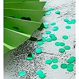 Green Metallic Confetti Circle Dots for Table