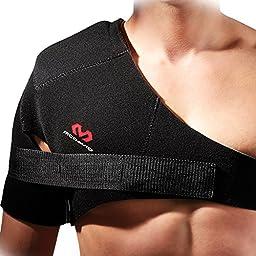 McDavid Shoulder Support with Strap (Black,Medium)