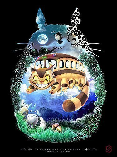 ighbor Totoro and Friends Painting Giclèe Print by J.P. Perez and Barrett Biggers (KOLABS STUDIOS) ()