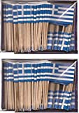 2 Boxes of Mini Greece Toothpick Flags%2...