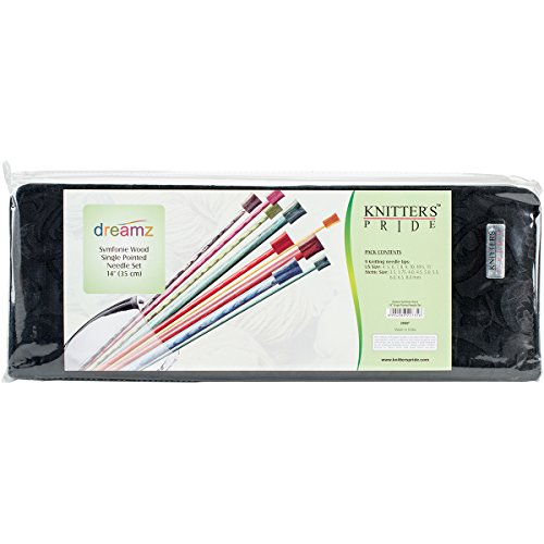 Knitter's Pride 4/3.5mm to 11/8mm Dreamz Straight Needles Set, 14