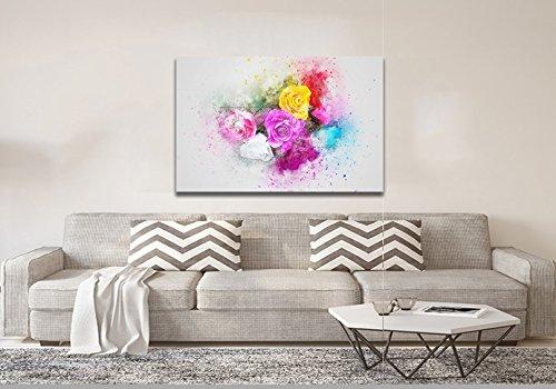 Quadro Canvas Pintura Chinesa Rosas Coloridas Lindas