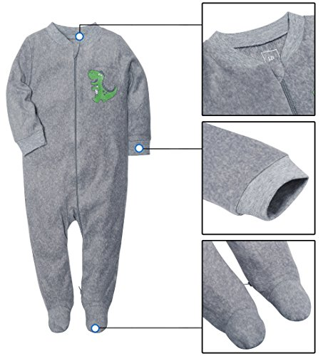 SH Downy Onesies Relaxed Warm Sleeper For Baby Footed Pajamas With Zipper