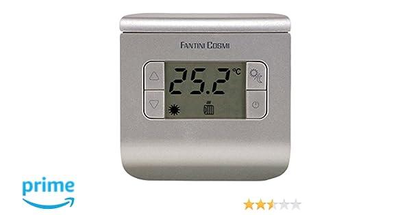 FANTINI COSMI CH111 Termostato ambiente a pilas, 3 temperaturas, Plata: Amazon.es: Bricolaje y herramientas
