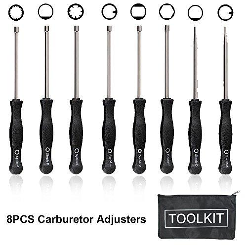 8PCS Carburetor Adjuster - Carburetor Ajdustment Tool Kit for Common 2 Cycle Carburator Engine - Carburetor Adjustment Tool Set