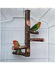 Bird Perch Stick,Bird Natural Wood Stand Parrot Birdcage Stand