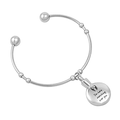 Amazoncom Im Here Watching Over You Memorial Urn Cuff Bangle