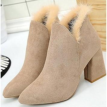 d3859484570 ZHZNVX HSXZ Women's Shoes Nubuck leather PU Summer Comfort Bootie ...