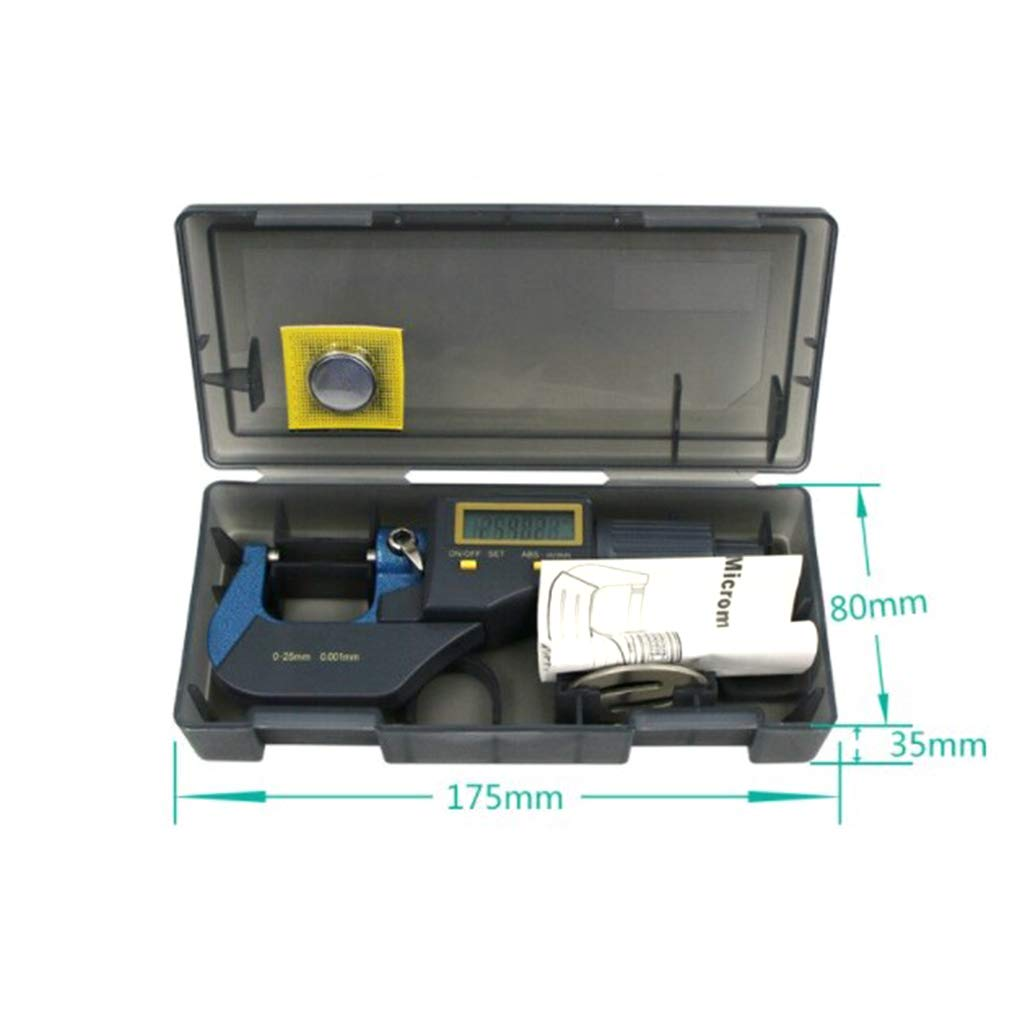 Fish 0.001mm electronic outside micrometer 0-25mm LCD Screen digital micrometer electronic Digital Caliper gauge