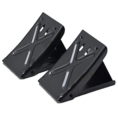 E-HEELP Metal Wheel Chock Without Rope, Foldable Tire Stop, Heavy Duty, Portable, Space Saving Design, Helps Keep Your Trailer RV in Place (Pack of 2): Automotive