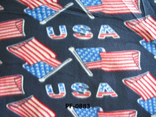 Fleece Patriotic Navy Blue USA United States of America Amer