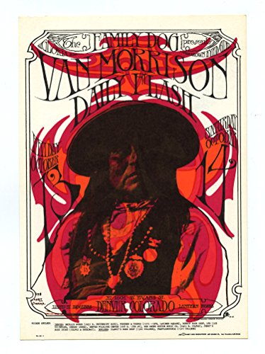 Family Dog Postcard Denver 6 Prominent Apache 1967 Oct 13 Van Morrison