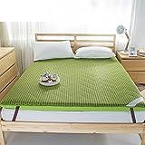 DHWJ Padded 4d breathable mattress Single-double student mattress Sponge tatami mattress-C Queen2