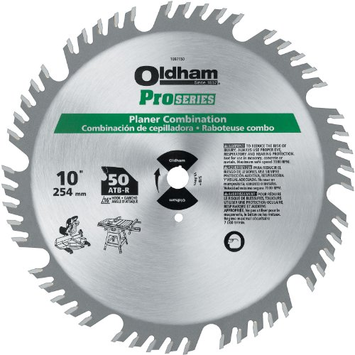PORTER-CABLE 1007150 10-Inch 50T Carbide Saw Blade Signature Woodworking Planer Combination