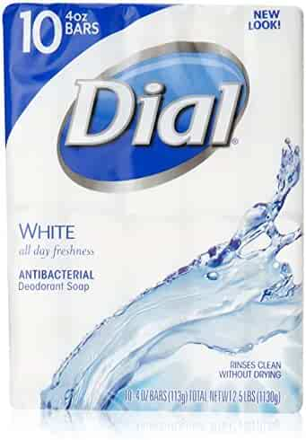 Dial Antibacterial Deodorant Bar Soap, White, 4-Ounce Bars, 10 Count (Pack of 3)