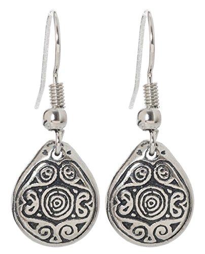 Pewter Irish Earrings Celtic Jewelry (Wheel of Being) ()