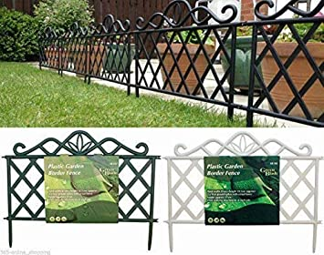 Exceptionnel Garden Mile® Pack Of 8 Decorative Victorian Style Garden Fencing Panels  Garden Lawn Edging White