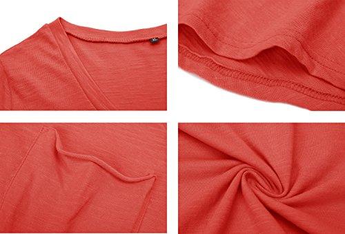 Donna Manica Shirt JL Corta T Red amp;LJ Xq1Ow8p