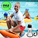 Portable Megaphone Speaker Siren Bullhorn - Battery Operated with 20 Watt Power, Microphone, 2 Modes, PA Sound and Foldable Handle for Cheerleading and Police Use - Pyle PMP23SL