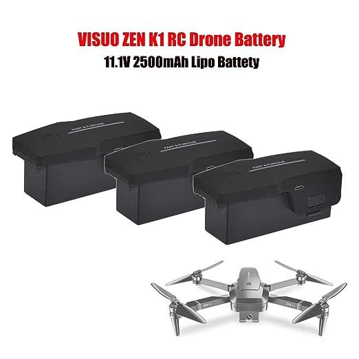 AKDSteel Visuo Zen K1 Batería de dron GPS RC 11,1 V 2500 mAh Lipo ...