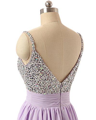 Royalblau Elegant Damen Pailletten Kurz Cocktailkleider Festkleider Ballkleid LuckyShe Abendkleider 78wxC7q