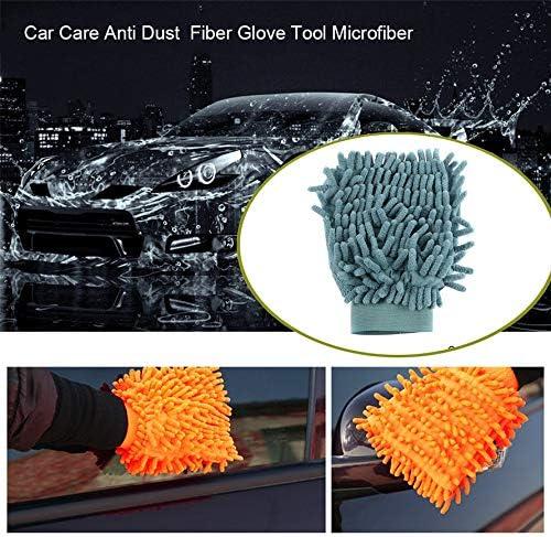 Random Eduton Ultrafine Fiber Mitt Microfiber Household Car Wash Washing Car Cleaning Dry Glove Anti Scratch for Car Cleaning Color Random
