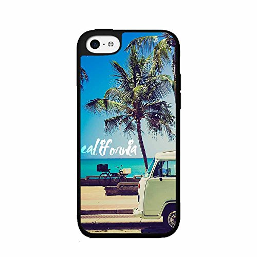 Palm Trees and California Dreaming TPU RUBBER SILICONE Phone Case Back Cover iPhone 5c