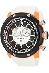 Glam Rock Women's GD1106-DMC Miami Beach Chronograph White Dial White Silicone Watch