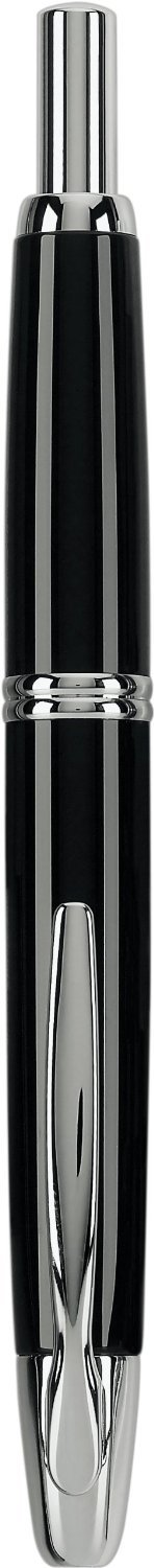 Pilot Vanishing Point Collection Retractable Fountain Pen, Black with Rhodium Accents, Blue Ink, Extra Fine Nib (60341) by Pilot (Image #3)
