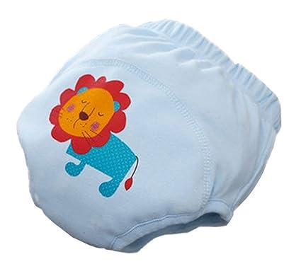 Aseo bebé pantalones de entrenamiento Pañal de dibujos animados ropa interior de algodón pañal de tela