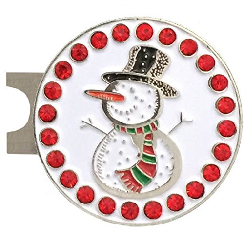 Snowman Golf Ball - Giggle Golf Bling Snowman Golf Ball Marker A Standard Hat Clip