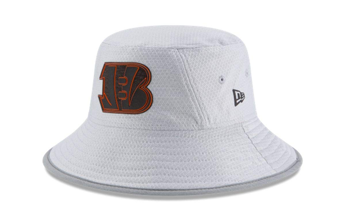 88bdc1eba6c Amazon.com   New Era Atlanta Falcons NFL 2018 Training Camp Sideline Bucket  Hat - Gray   Sports   Outdoors