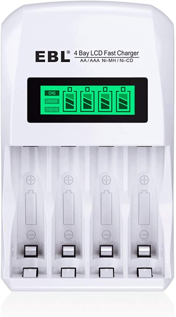LCD Display Rechargeable Smart Battery Charger 4 Slots for AA//AAA     Z8