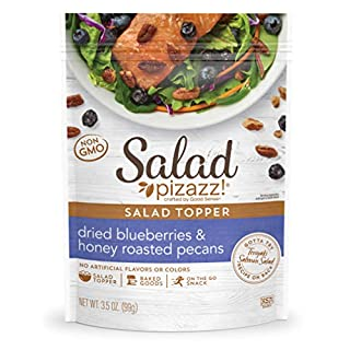 Salad Pizazz! | Dried Blueberries & Honey Toasted Pecans Salad Topping | 42 OZ - 12 3.5 OZ (3.5 Ounce) Resealable Bags