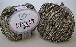 50 G de lana ONline Linie 339 Serino, 03 ovillo de algodón-lino-mezcla * Ovillo de lana * Ganchillo * , nuevo