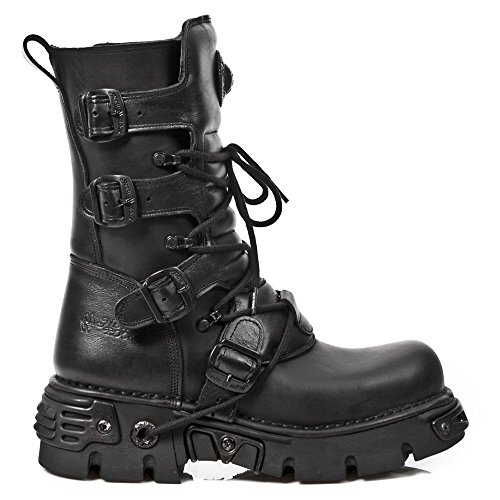 S18 Metà Unisex Adulto – Rock Da 373 Black New M A Motociclista Stivali Polpaccio xp4FAt