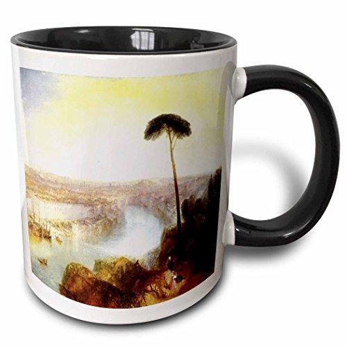 3dRose Florene Famous British Seascape Paintings - British Painter Turners Rome From Mount Aventine Painting - 15oz Two-Tone Black Mug (mug_150966_9) ()