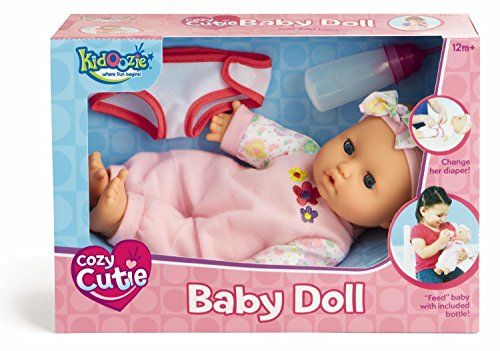 Kidoozie Snug and Hug Baby Doll – Includes Removable Diaper and a Bottle – Ages 12 Months and Up