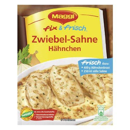 Maggi Fix (MAGGI fix & fresh chicken with onion sauce (Zwiebel-Sahne Hähnchen) (Pack of 4))